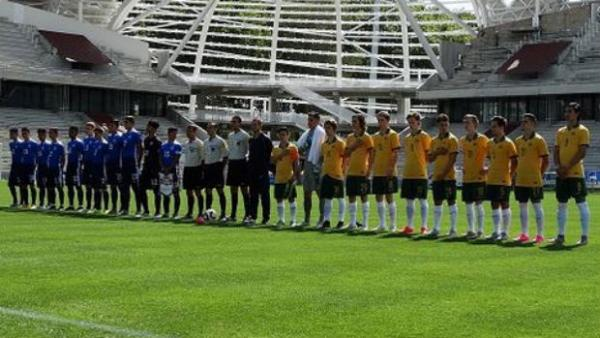 The Joeys line-up prior to their 1-1 draw with USA in France in September.
