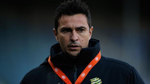 Young Socceroos coach Paul Okon.
